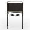 Wharton Distressed Black Dining Chair