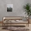 """Tremaine Cream Fabric Cane Sofa 80"""""""