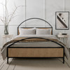 Natalia Iron And Cane Queen Platform Bed