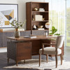 Anna Modern Solid Wood Bookshelf with Cabinet