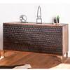 "Anna Modern Carved Solid Wood 7-Drawers Dresser 60"""