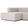 Langham Napa Sandstone Channeled 5-Piece Sectional