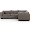 """Westwood Torrance Rock 3-Piece Sectional 111"""""""