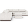 Colt Merino Cotton 3-Piece Sectional With Ottoman