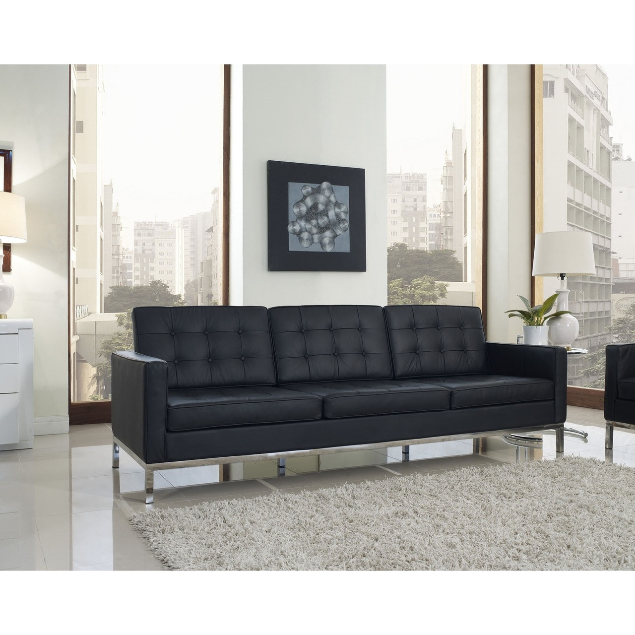 Florence Style Leather Loft Sofa