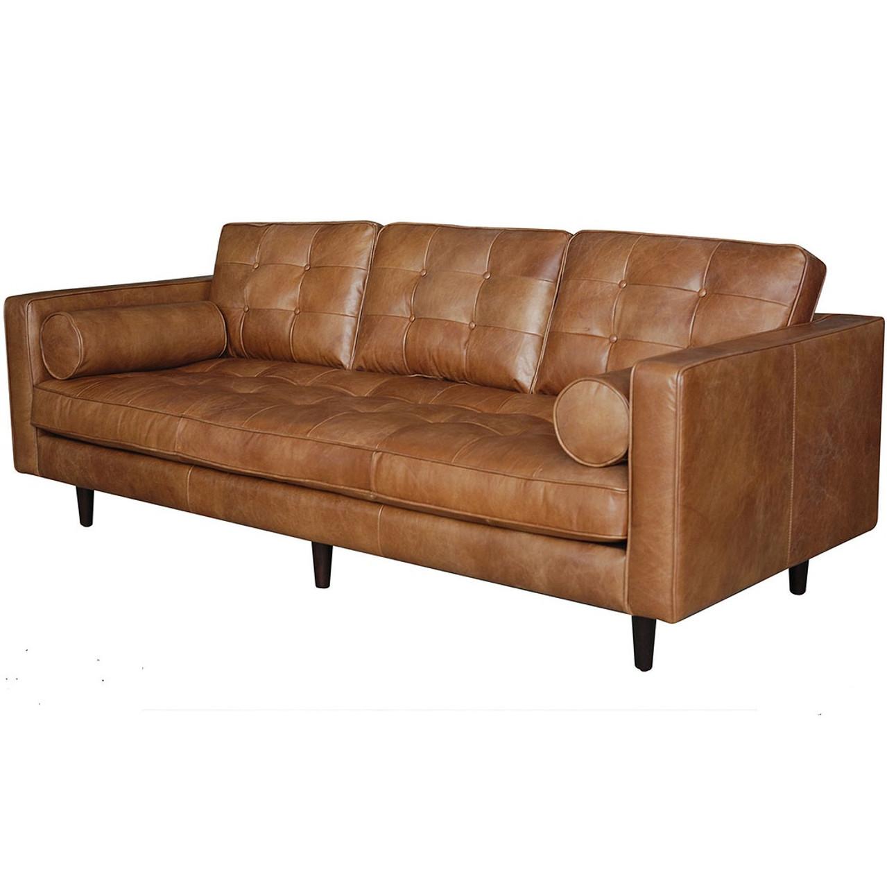 Maxwell Modern Leather Sofa 89 Zin Home