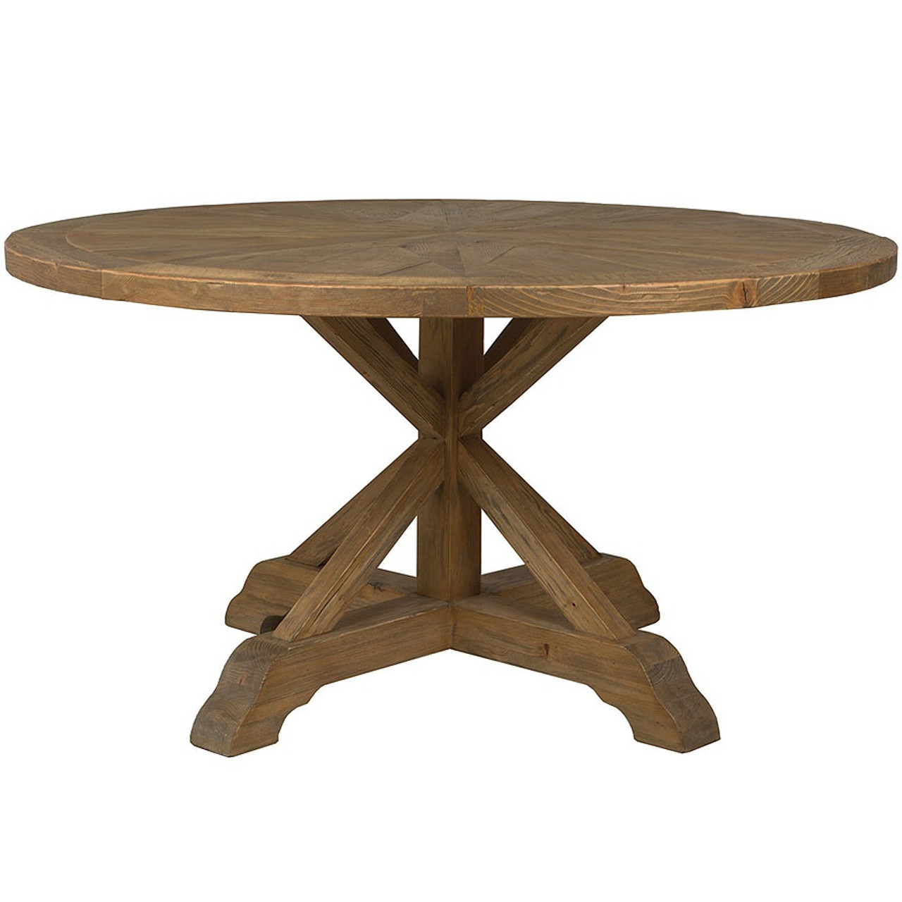 Opio Reclaimed Wood Round Dining Table 60 Zin Home