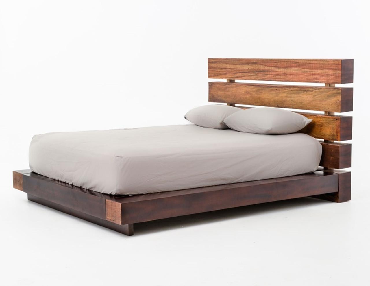 Bina Iggy Solid Wood Queen Platform Bed Frame Zin Home