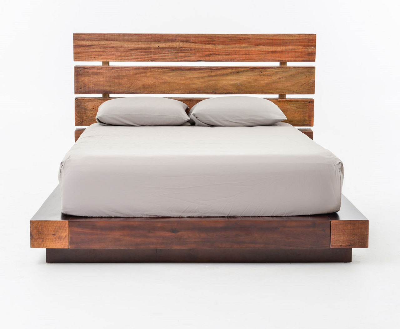 Bina Iggy King Platform Bed Reclaimed Wood Platform Bed Frame