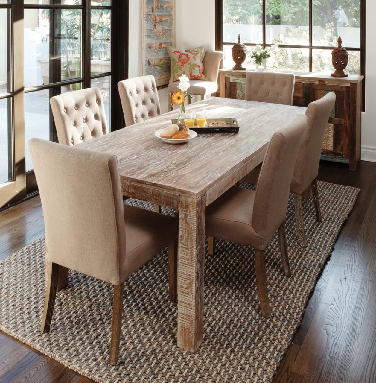 """Farmhouse Dining Table: Hampton Teak Wood Farmhouse Dining Room Table 60"""""""