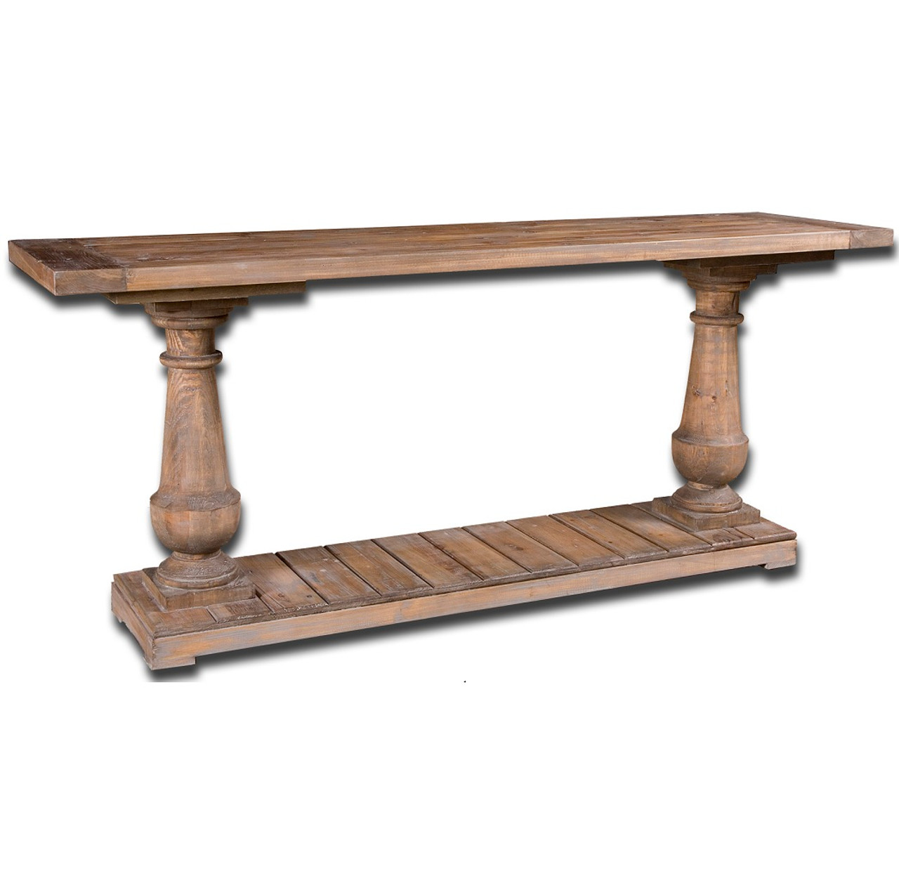 Salvaged Solid Wood Rustic Console Table 71