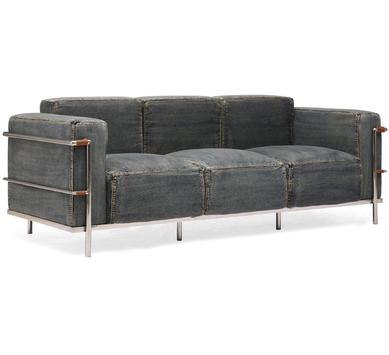 Colins Blue Denim Sofa