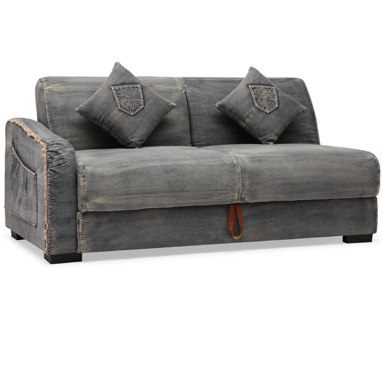 Peachy Colins Denim Sleeper Sectional Sofa Gmtry Best Dining Table And Chair Ideas Images Gmtryco