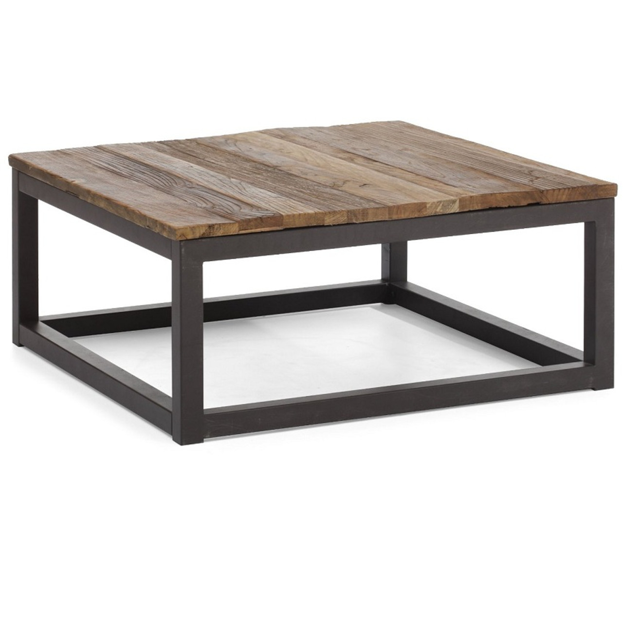 Fine Civic Wood And Metal Square Coffee Table Lamtechconsult Wood Chair Design Ideas Lamtechconsultcom