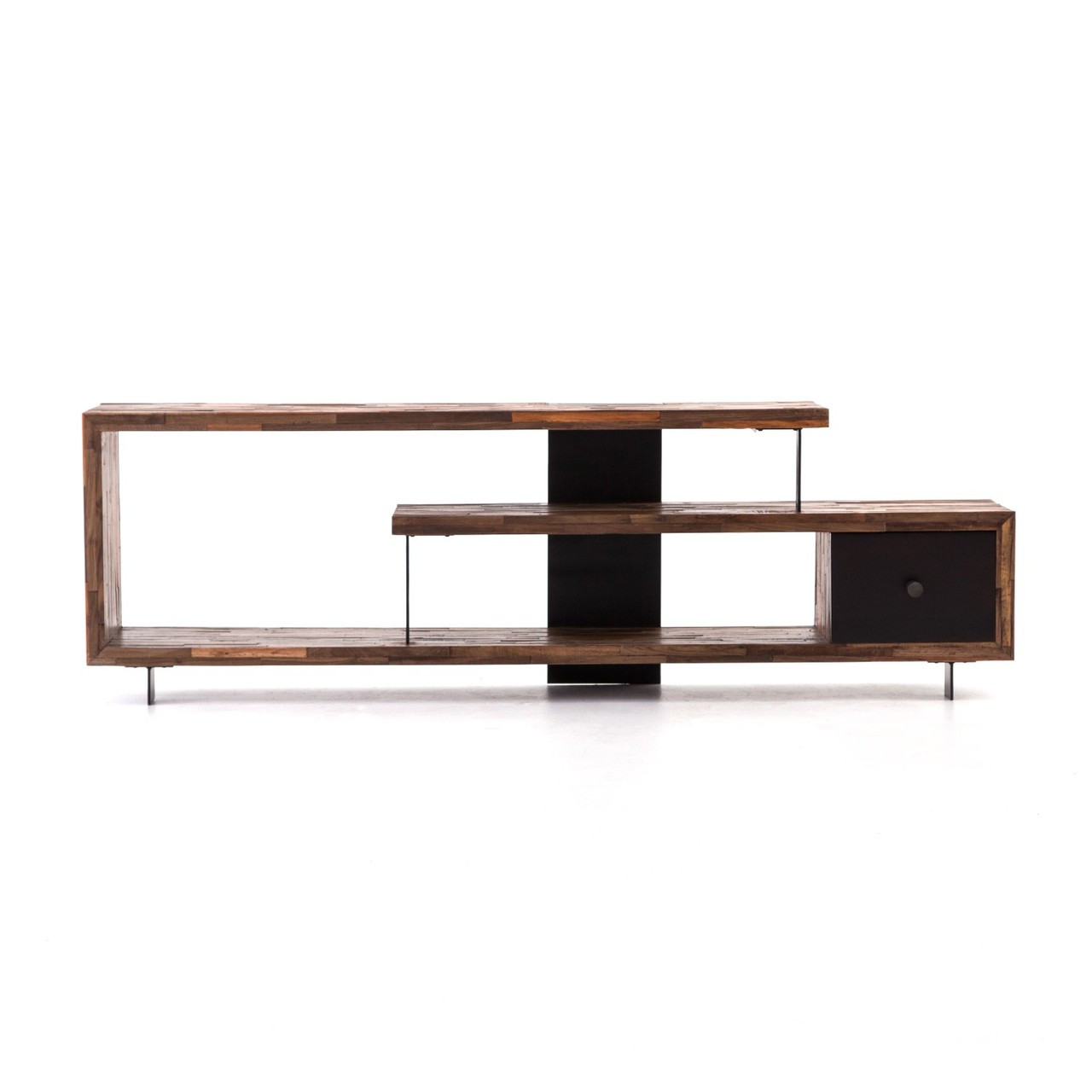 Peachy Jonah Staggered Reclaimed Wood Tv Console Table 76 Download Free Architecture Designs Grimeyleaguecom