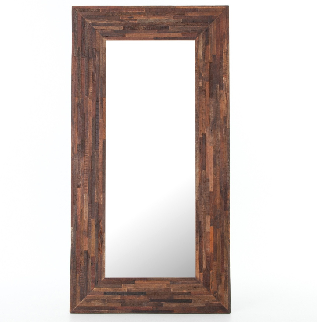 Berlin Mix Reclaimed Wood Floor Mirror Zin Home