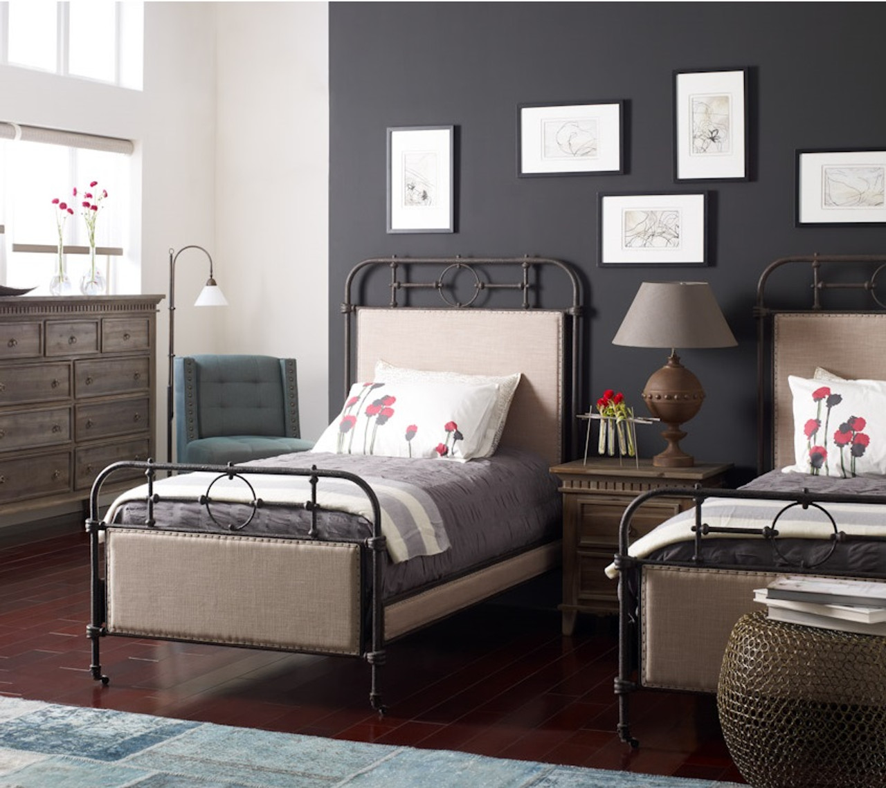 18th Century French Campaign Metal Twin Bed | Zin Home