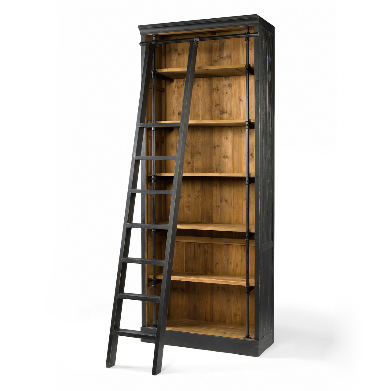 half off 76a7a dc85f French Library Bookcase with Ladder