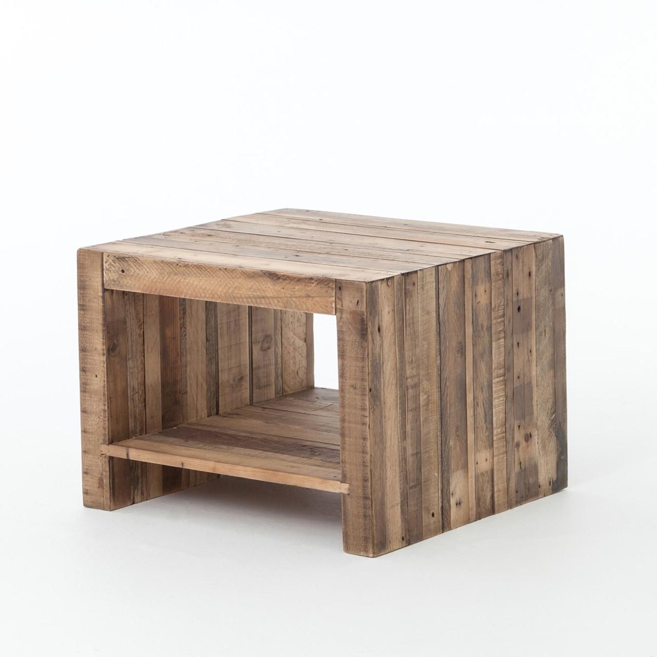 official photos e7e74 7f380 Angora Reclaimed Wood Square End Table