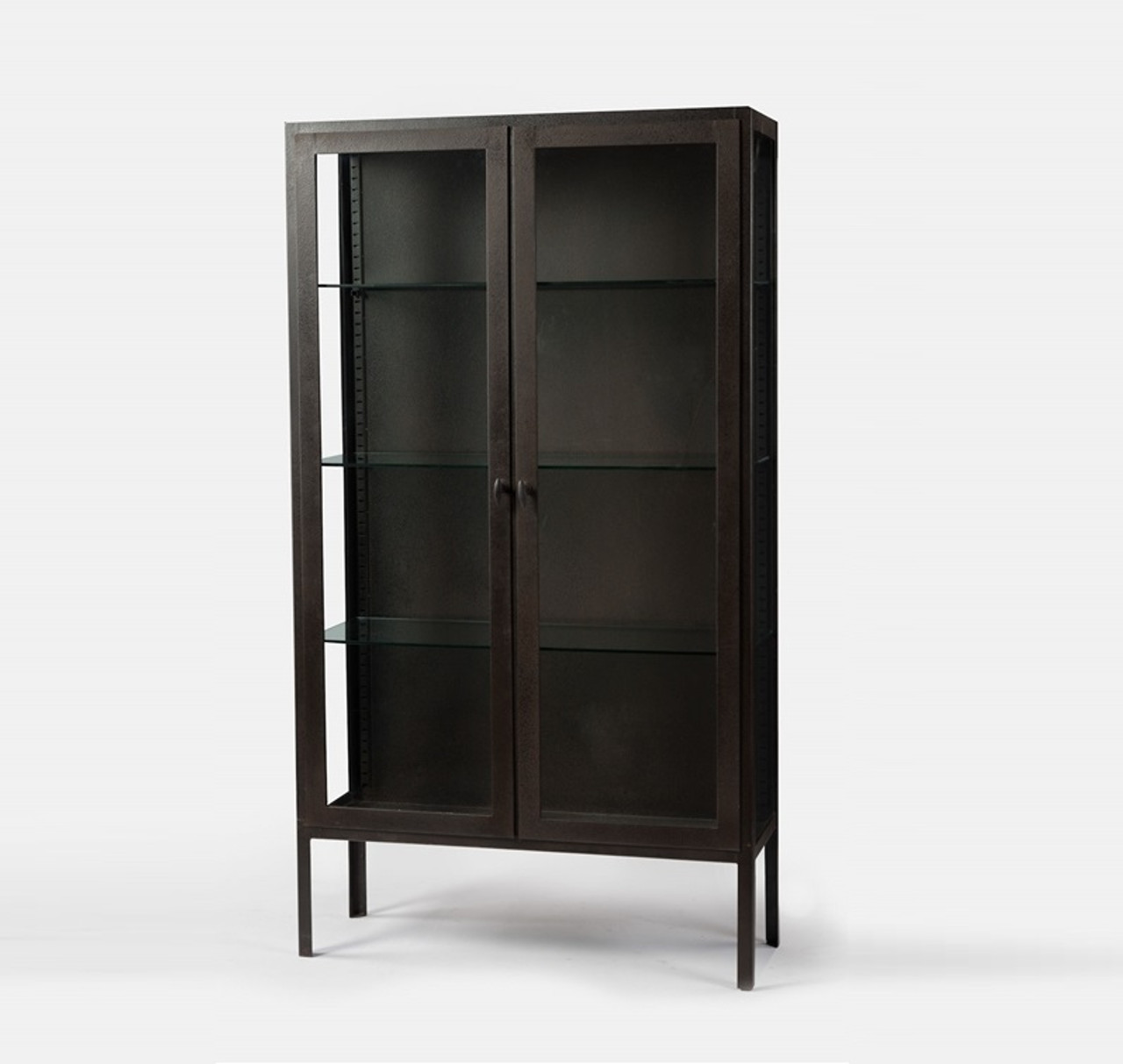 Bon Trenton Aged Black Metal Display Cabinet