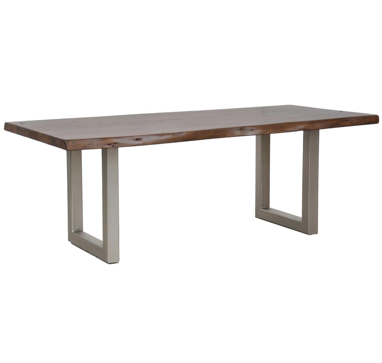 Montana Solid Wood Metal Leg Dining Table 94\