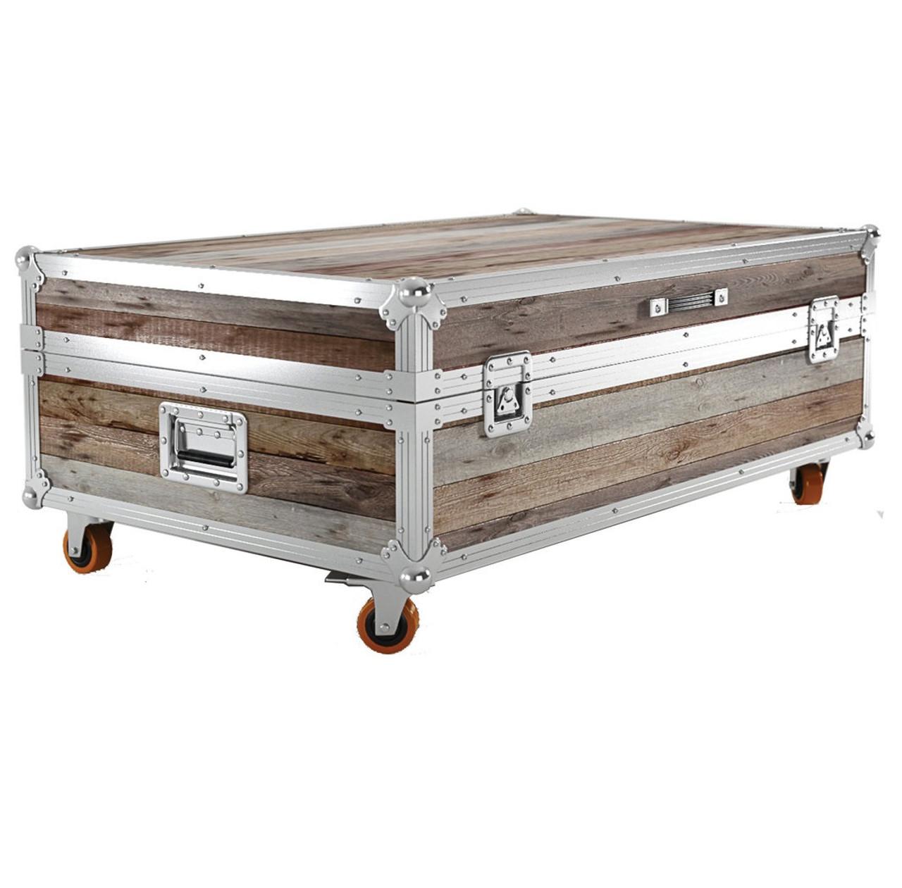 - Industrial Reclaimed Teak Wood Large Trunk Coffee Table Zin Home