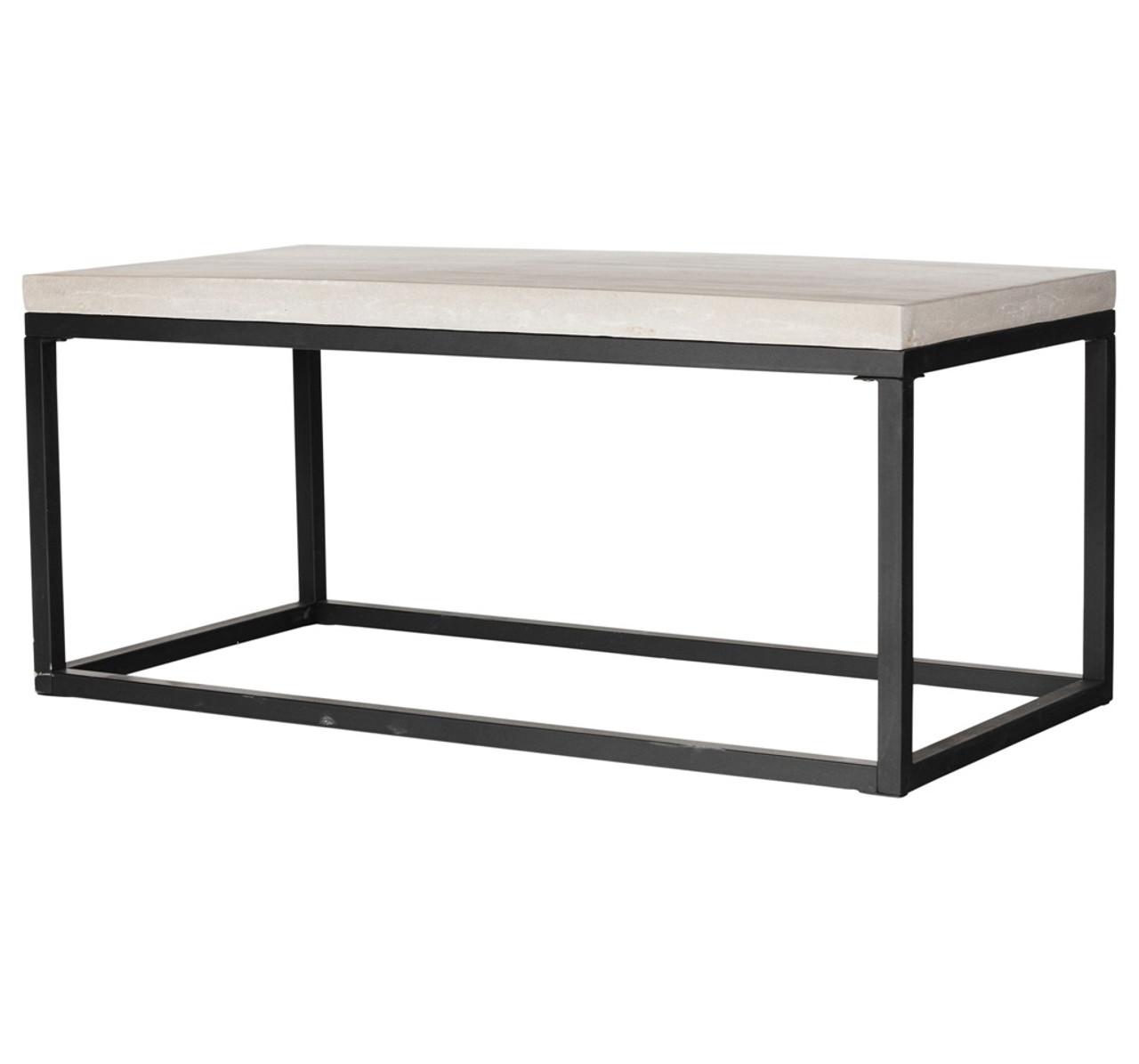 Masonry Concrete Box Frame Rectangular Coffee Table Zin Home
