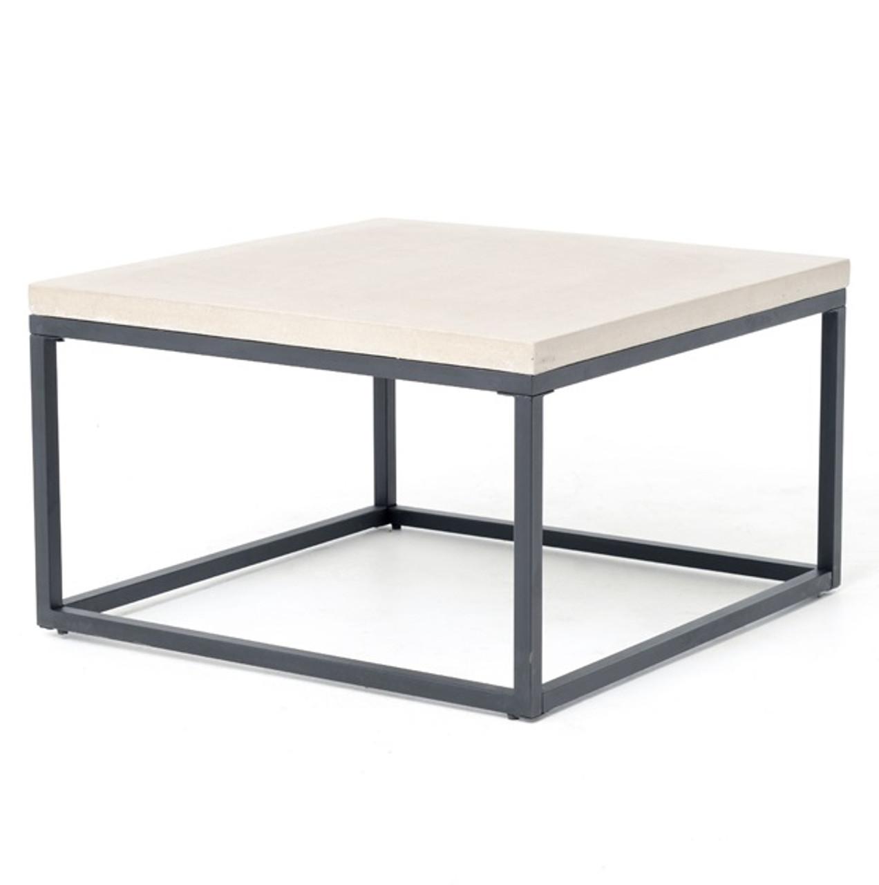Masonry Concrete Box Frame Square Coffee Table Zin Home