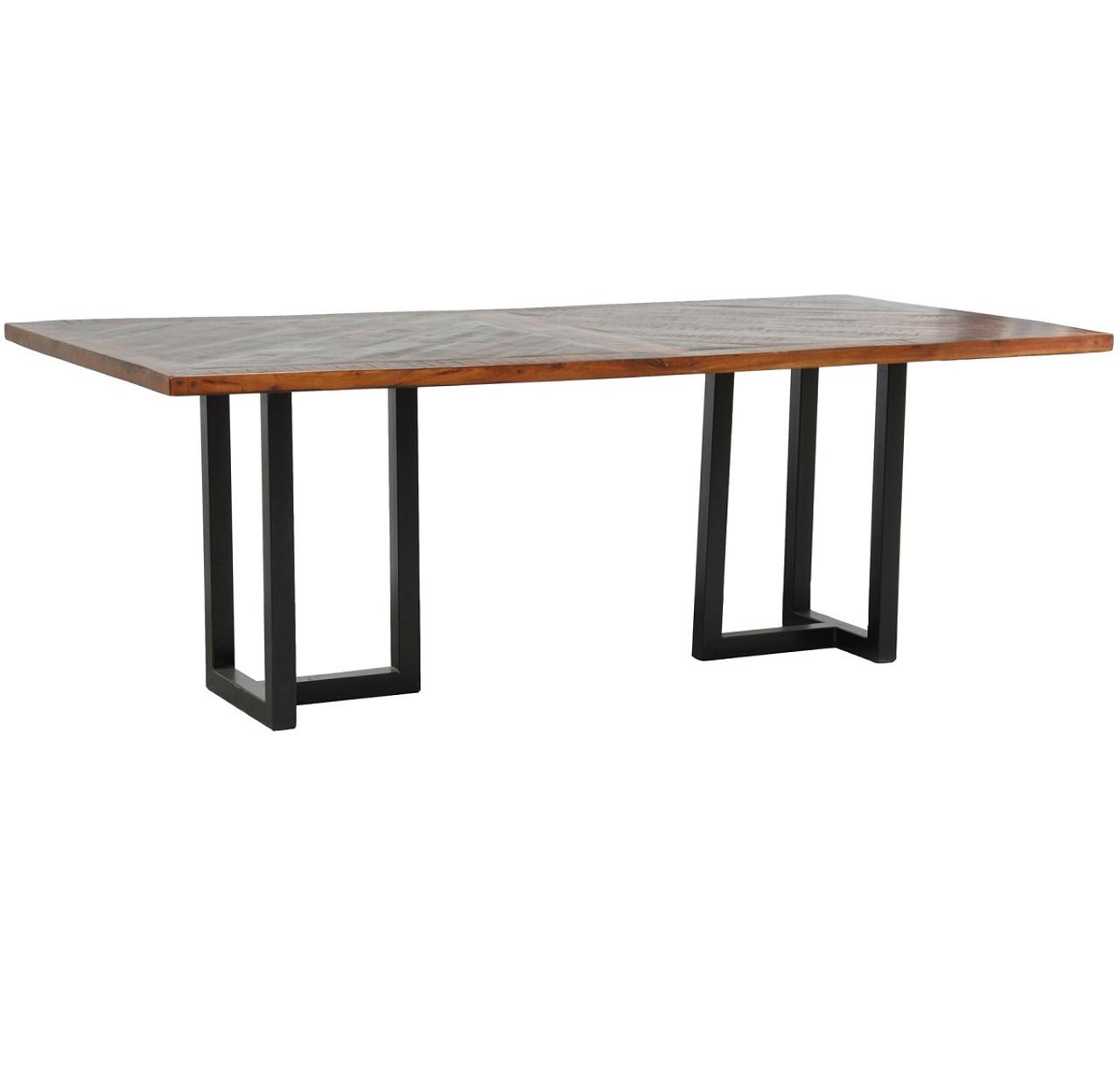 Loft Geometric Metal Base Dining Table