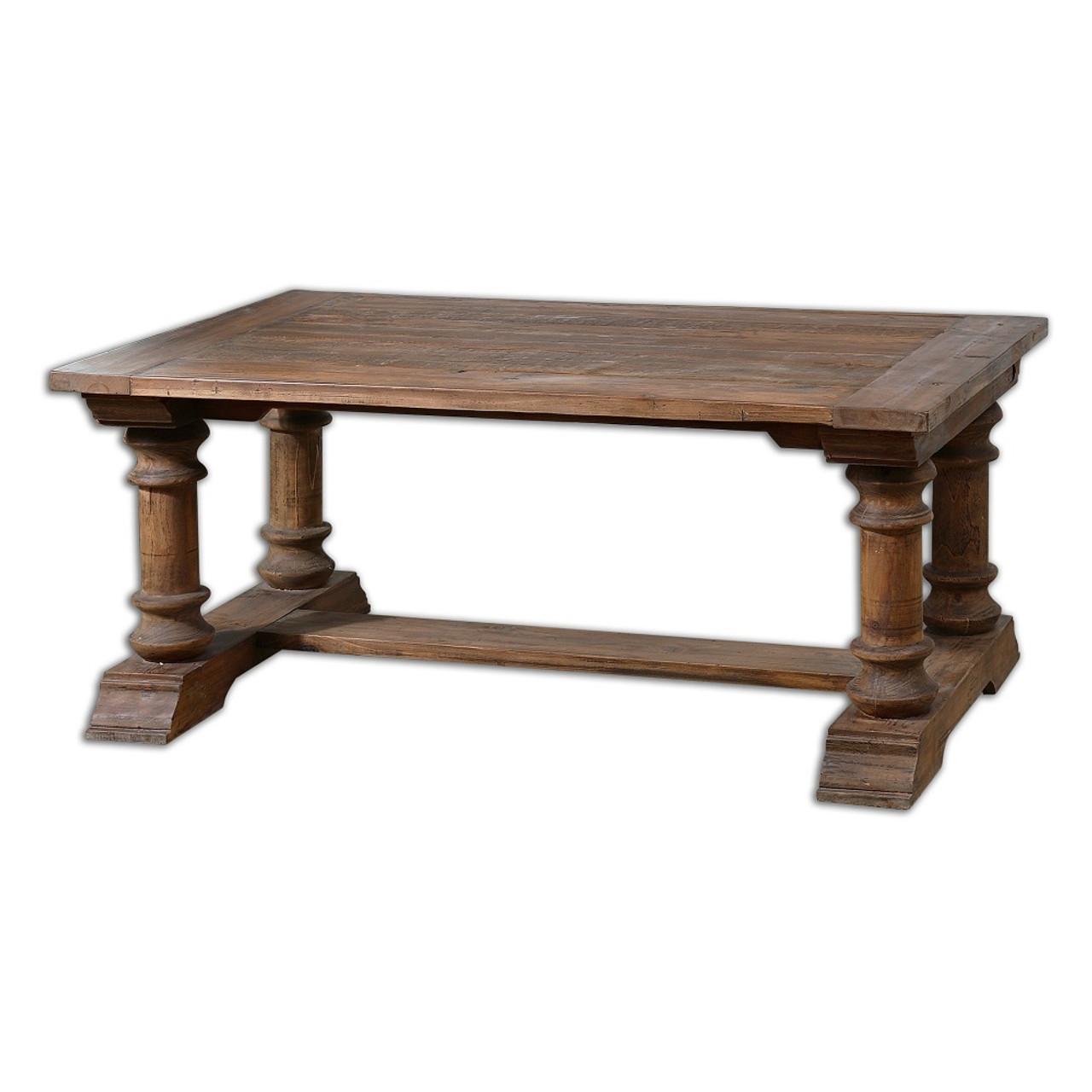 Saturia Balustrade Reclaimed Wood Coffee Table Zin Home