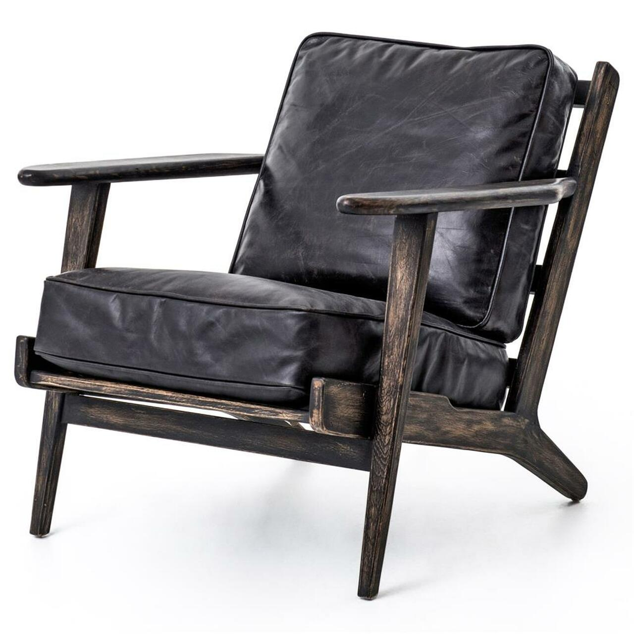 Mid-Century Modern Brooks Leather Lounge Chair