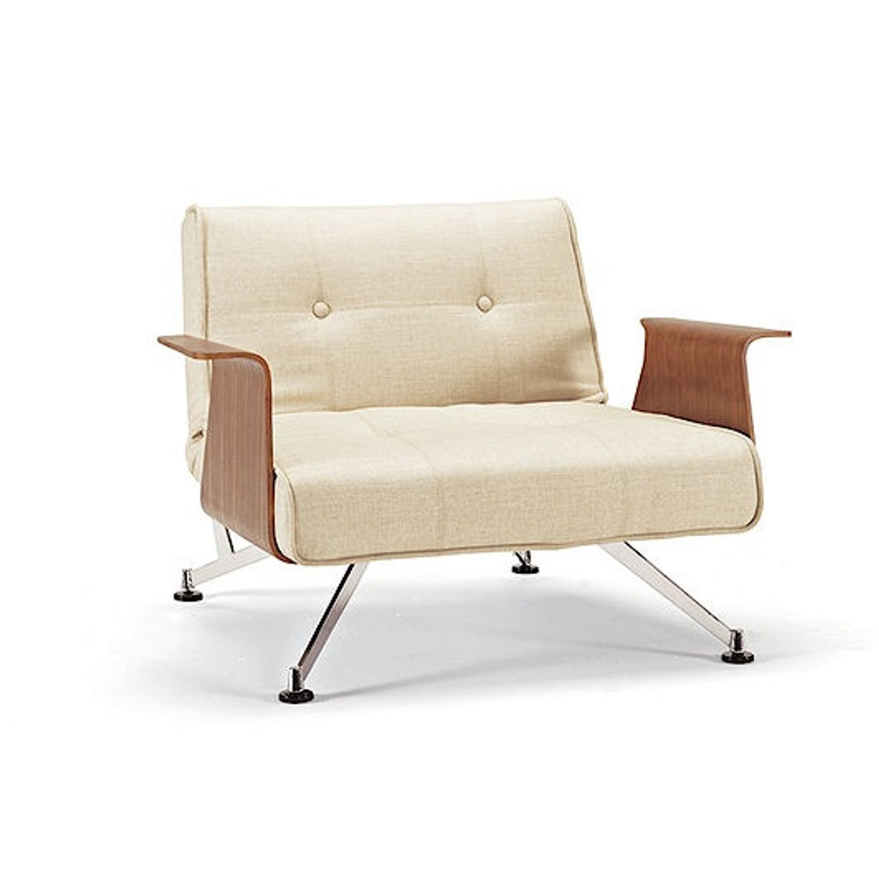Picture of: Mid Century Modern Clubber Recliner Chair With Wood Arms Zin Home