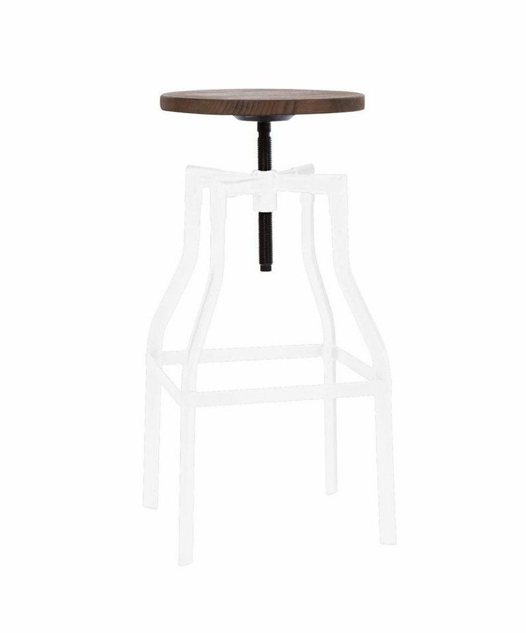 Industrial Wood And Metal White Bar Stool Zin Home