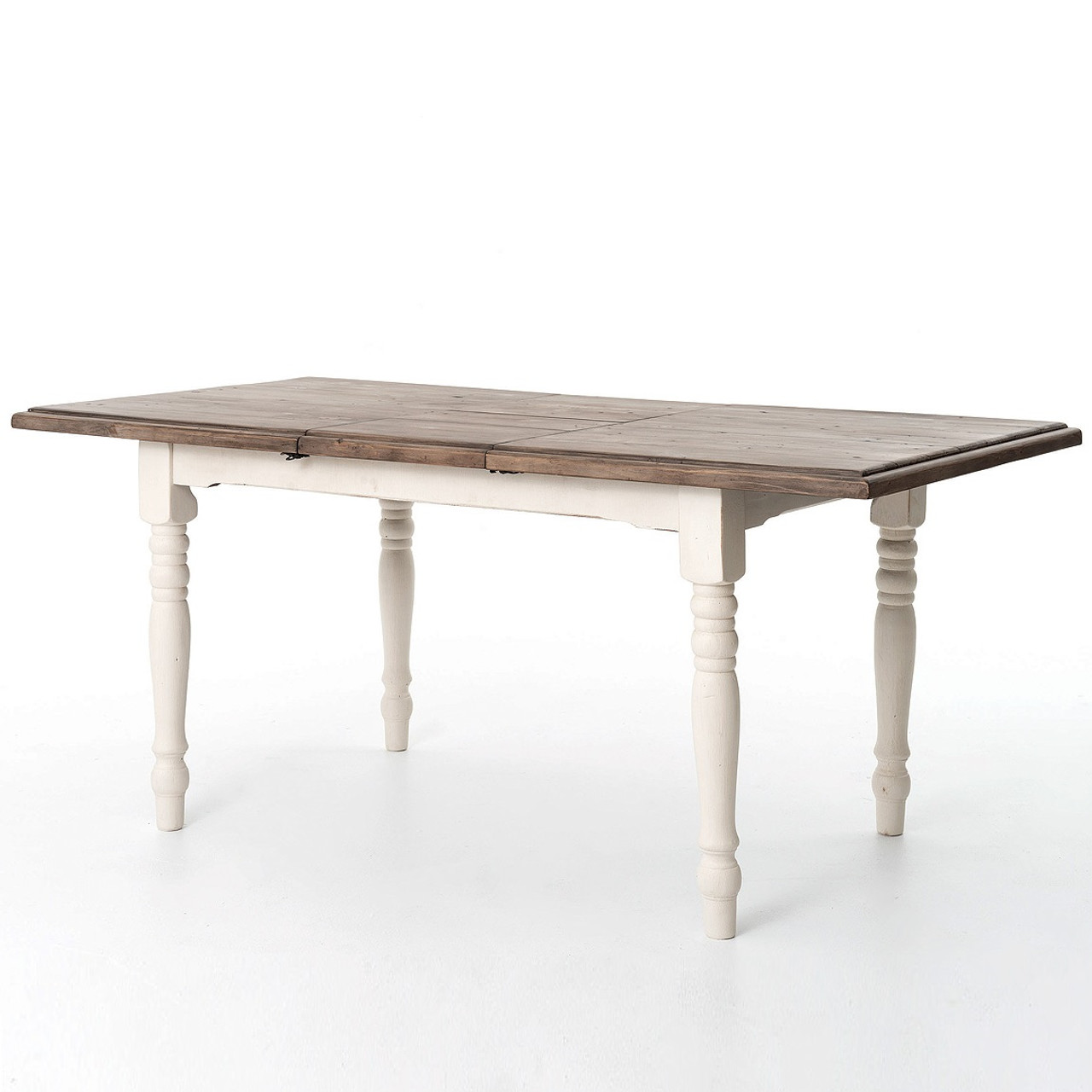 Cottage White Extension Dining Room Table 71\