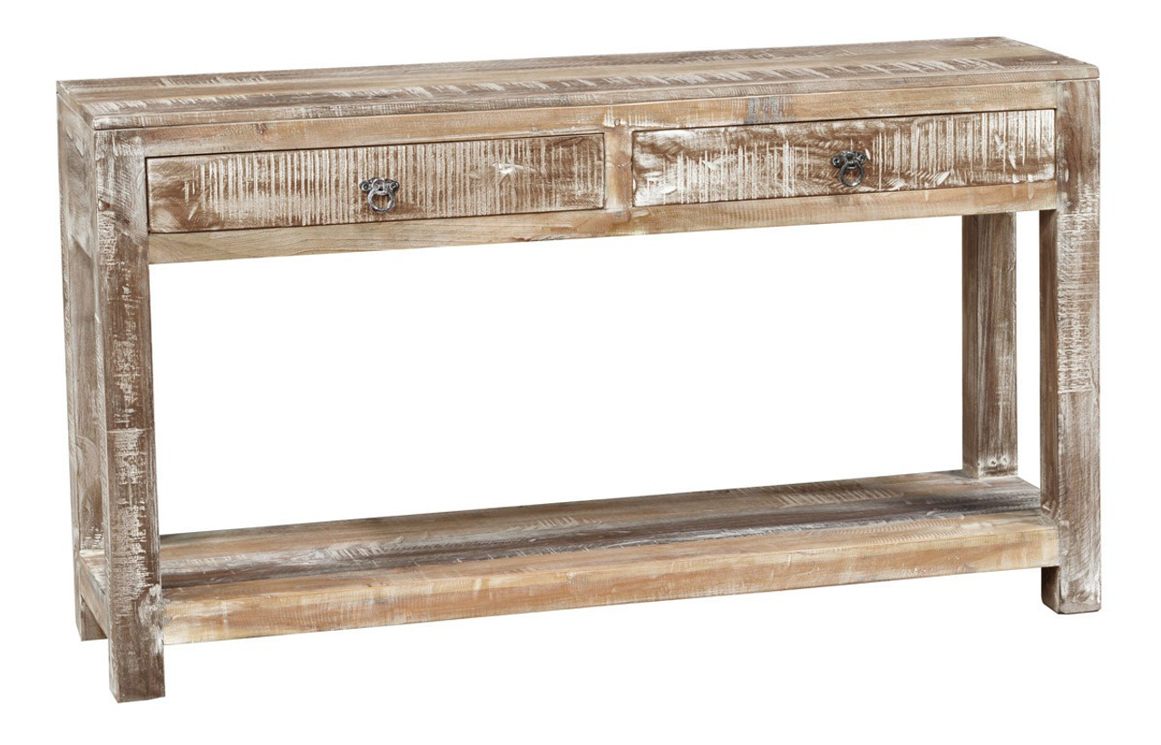 Terrific Hampton Reclaimed Wood Console Table With 2 Drawers Pdpeps Interior Chair Design Pdpepsorg