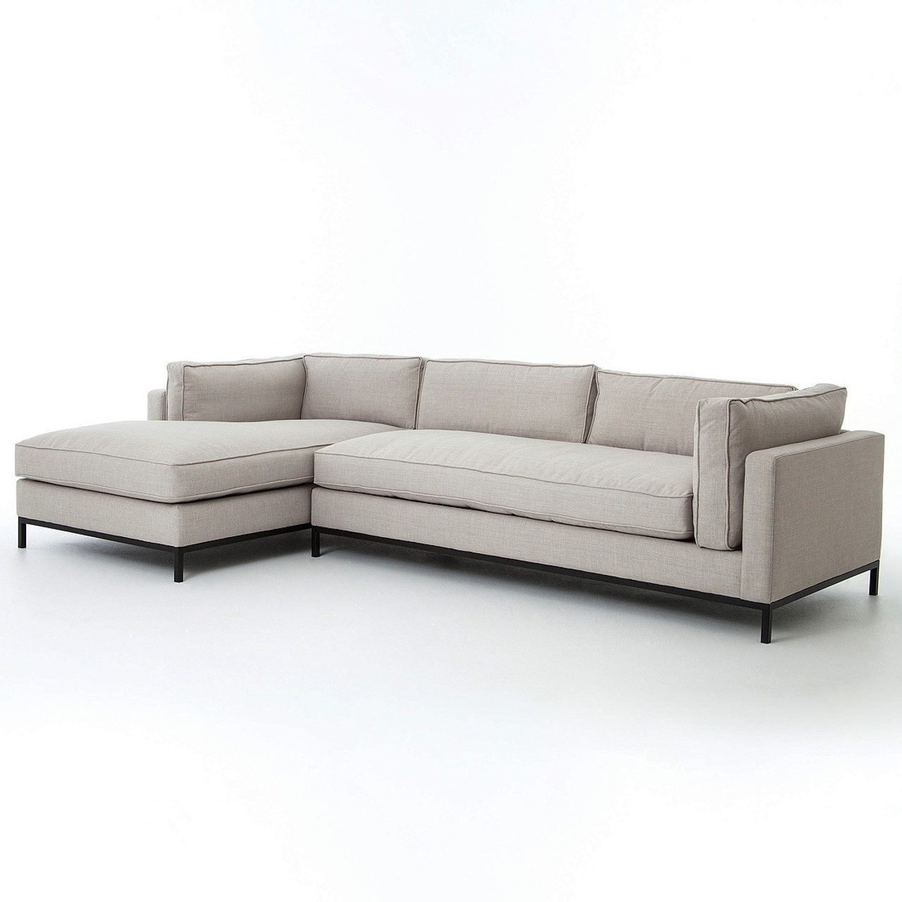 Grammercy Linen Modern 2 Piece Sectional Sofa
