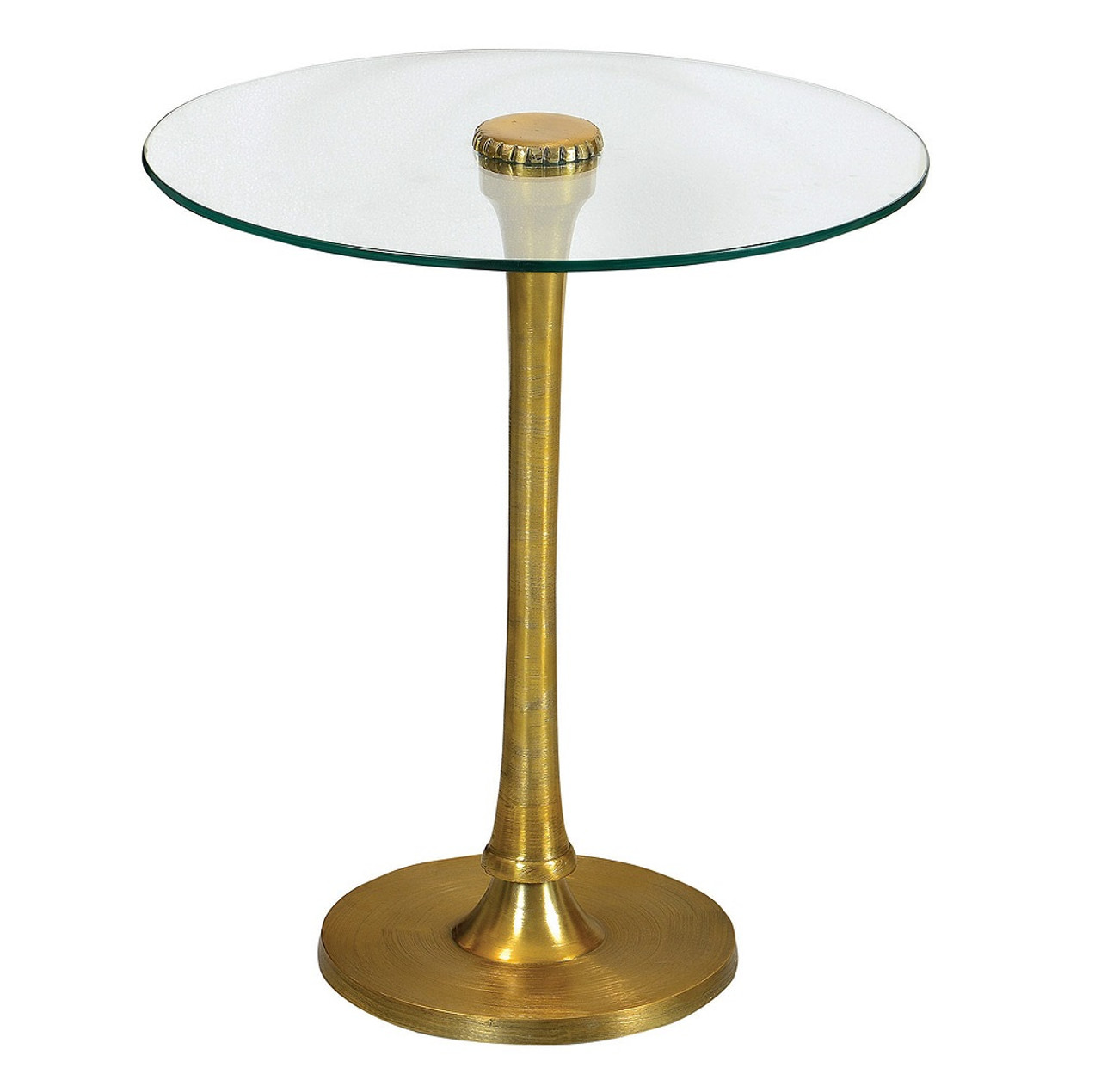 Marlow Mani Brass And Glass Top Side Table Zin Home