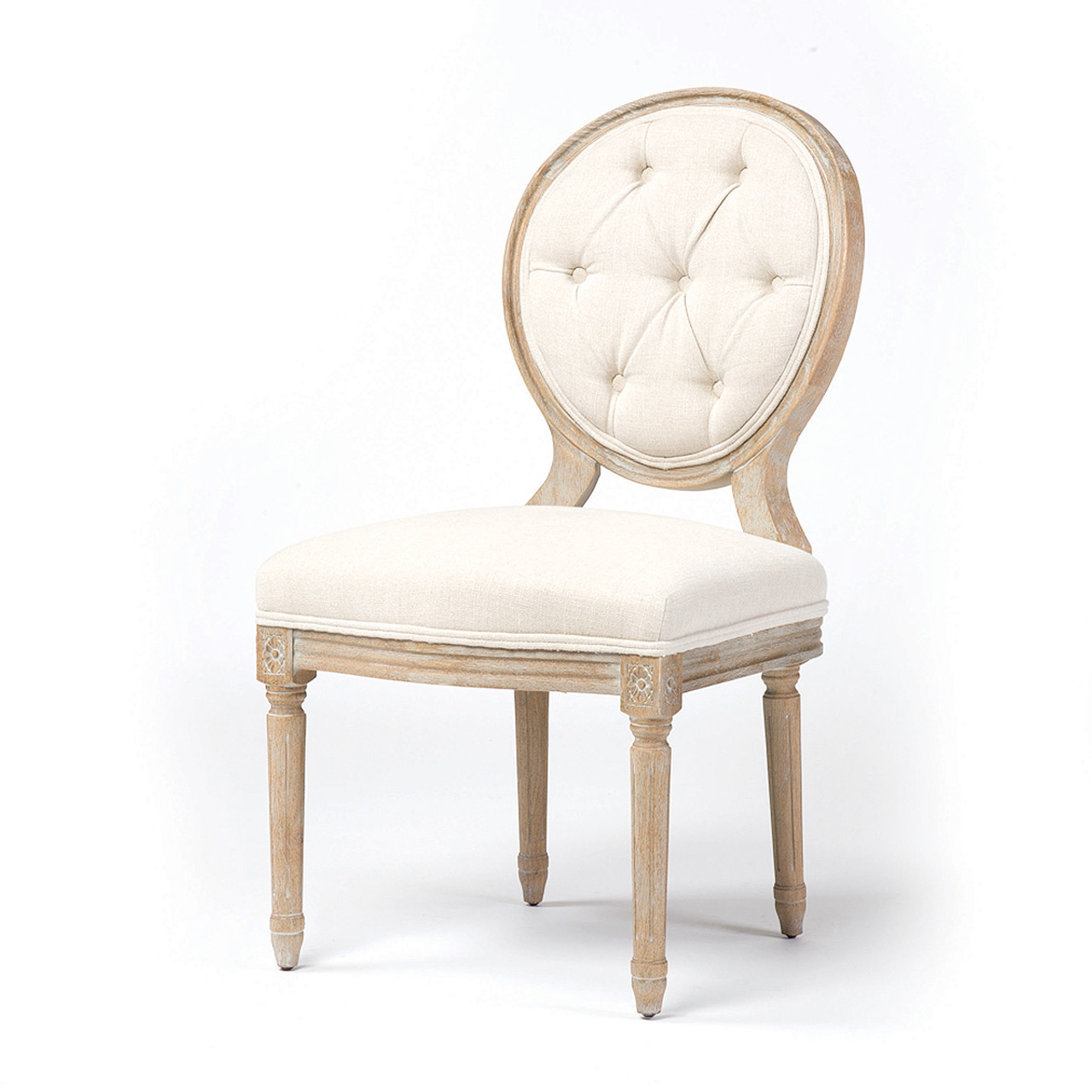 Stella vintage french tufted dining side chair zin home