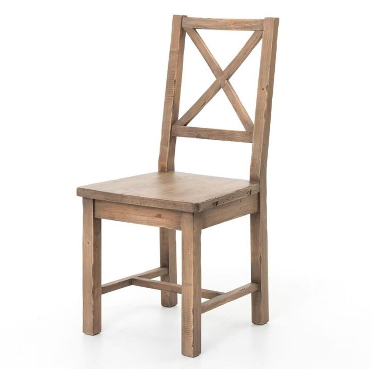 Coastal Rustic Solid Wood Dining Room Chair Zin Home