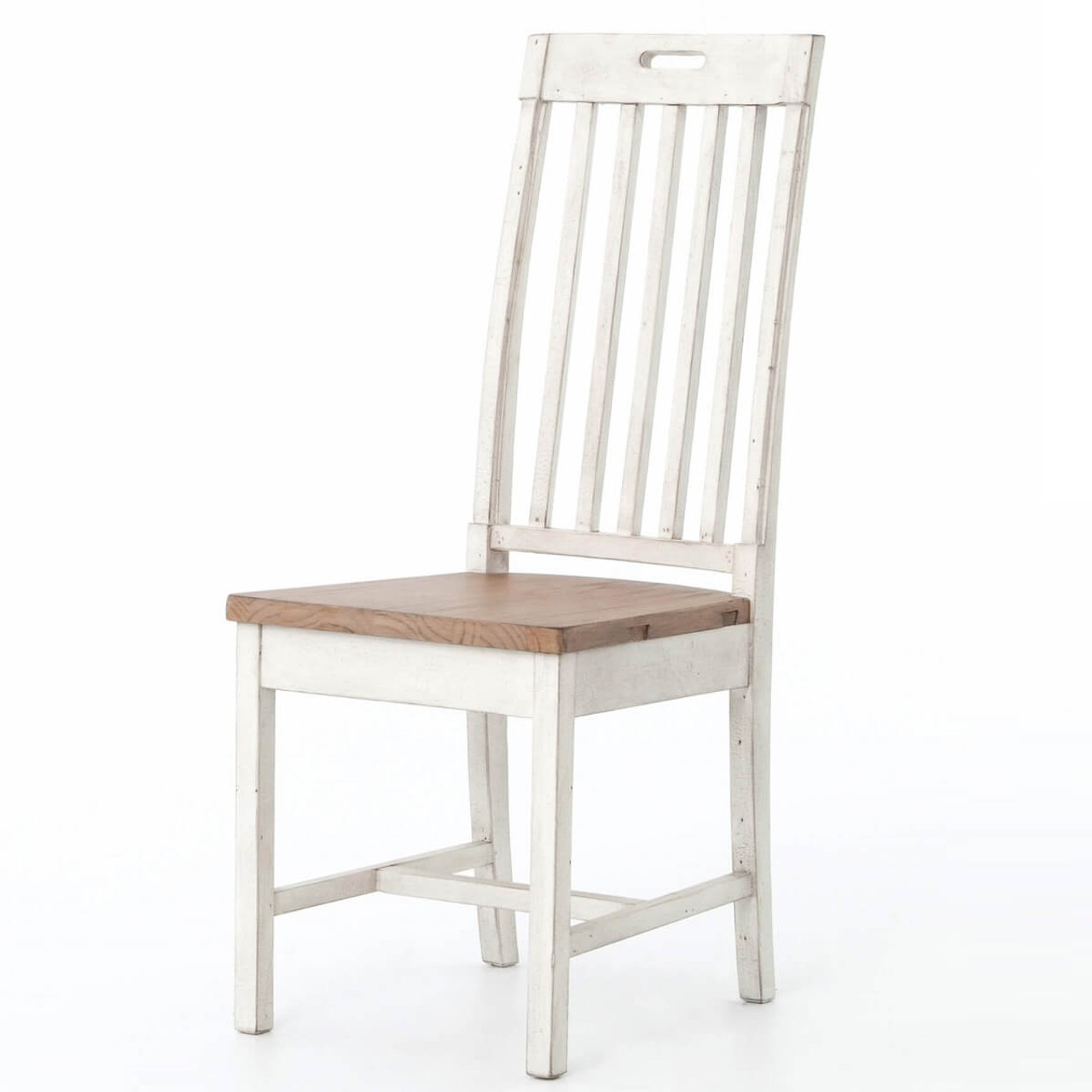 Cintra Rustic White Wood Dining Room Chair