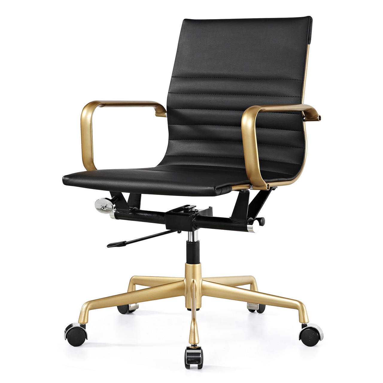 Stupendous Gold Black Vegan Leather M348 Modern Office Chairs Ocoug Best Dining Table And Chair Ideas Images Ocougorg