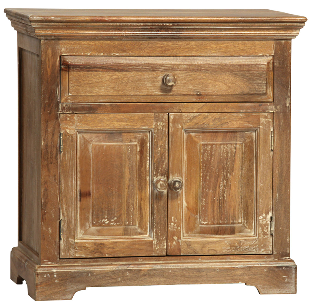 Lucca Rustic Light Solid Wood Large Nightstand Zin Home