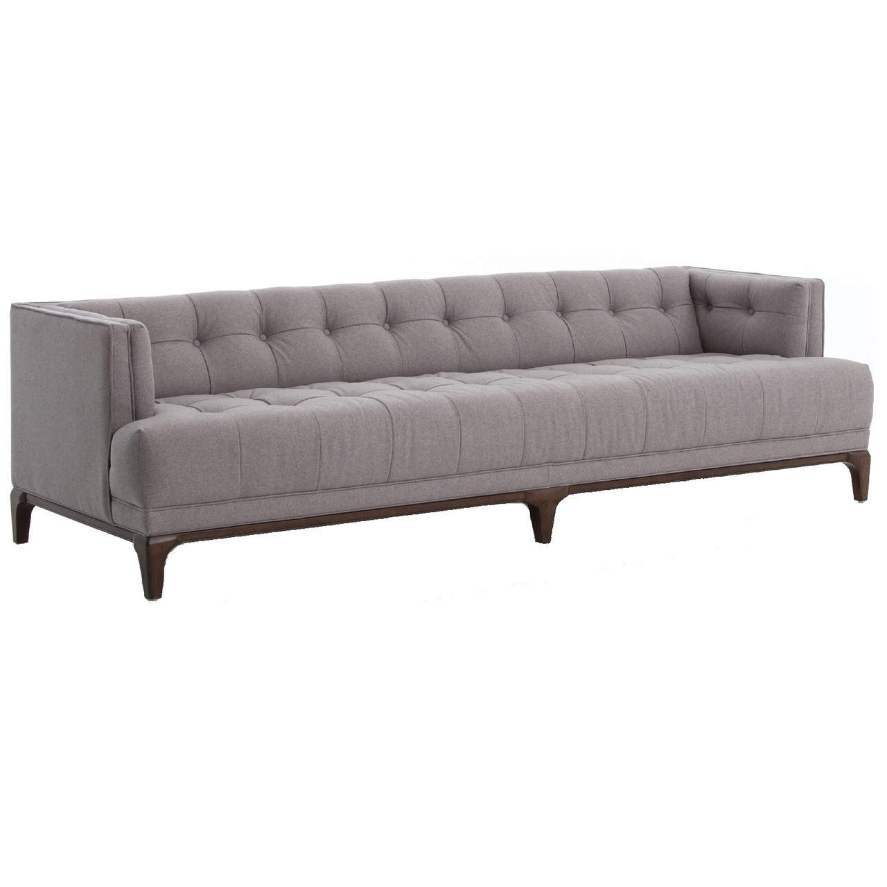 Dylan Mid-Century Modern Low Back Grey Tufted Sofa