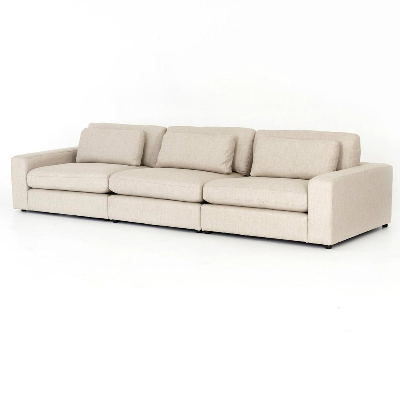 Bloor Beige Contemporary 3 Piece Modular Sofa 131\