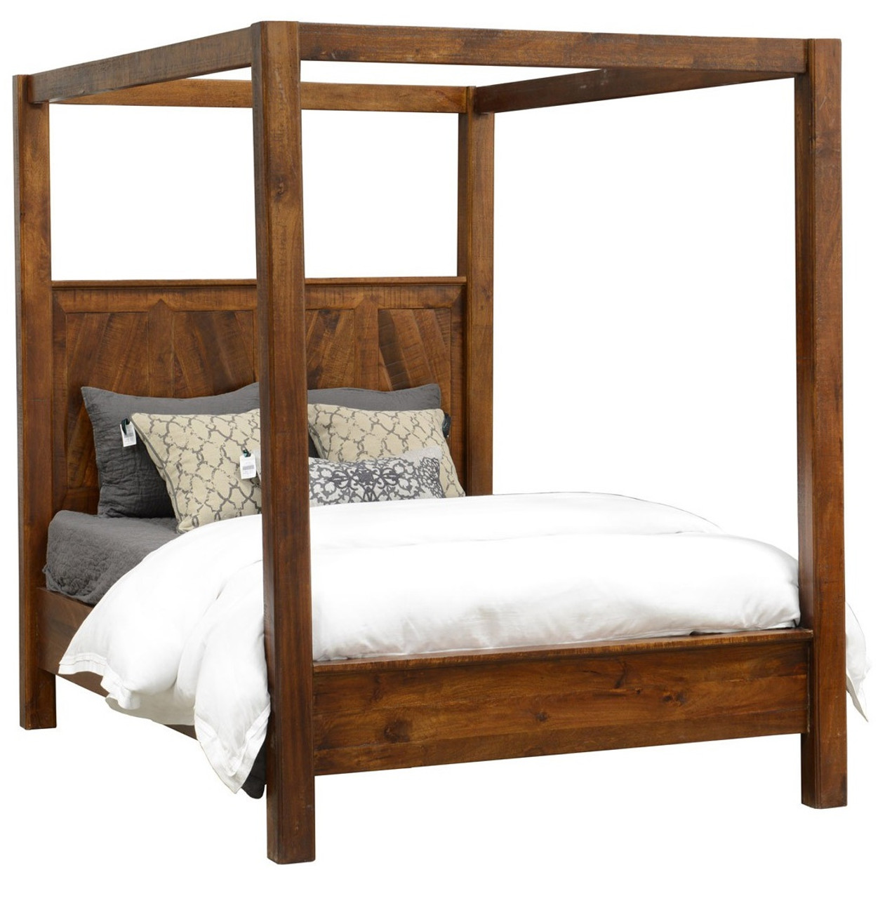 Kosas Solid Wood Canopy King Bed | Zin Home
