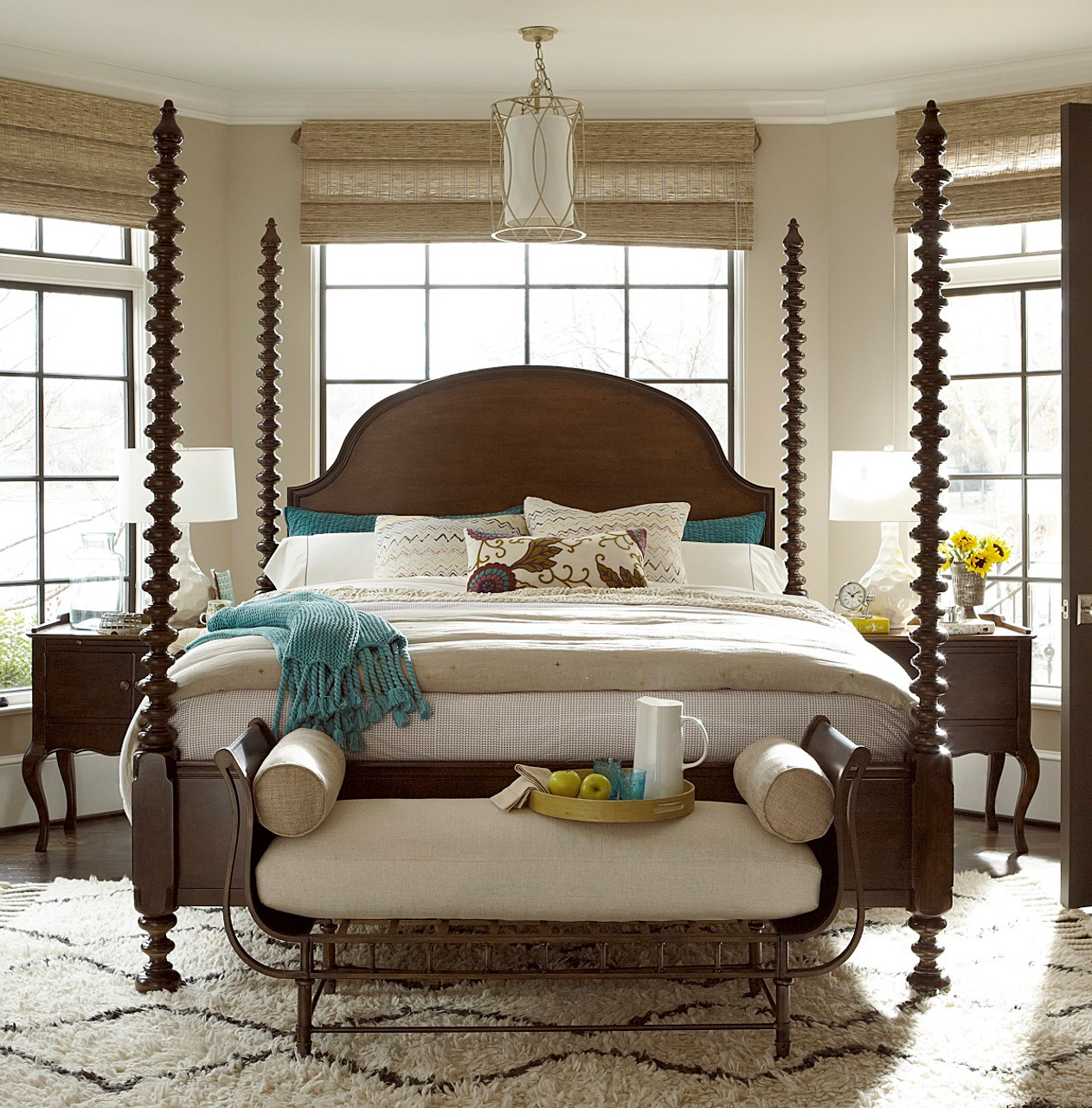 Sonoma Four Poster Bed Frame Zin Home