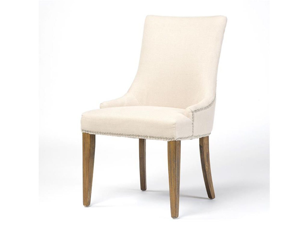 Astounding Ashford Linen Upholstered Nailhead Dining Chair Bralicious Painted Fabric Chair Ideas Braliciousco