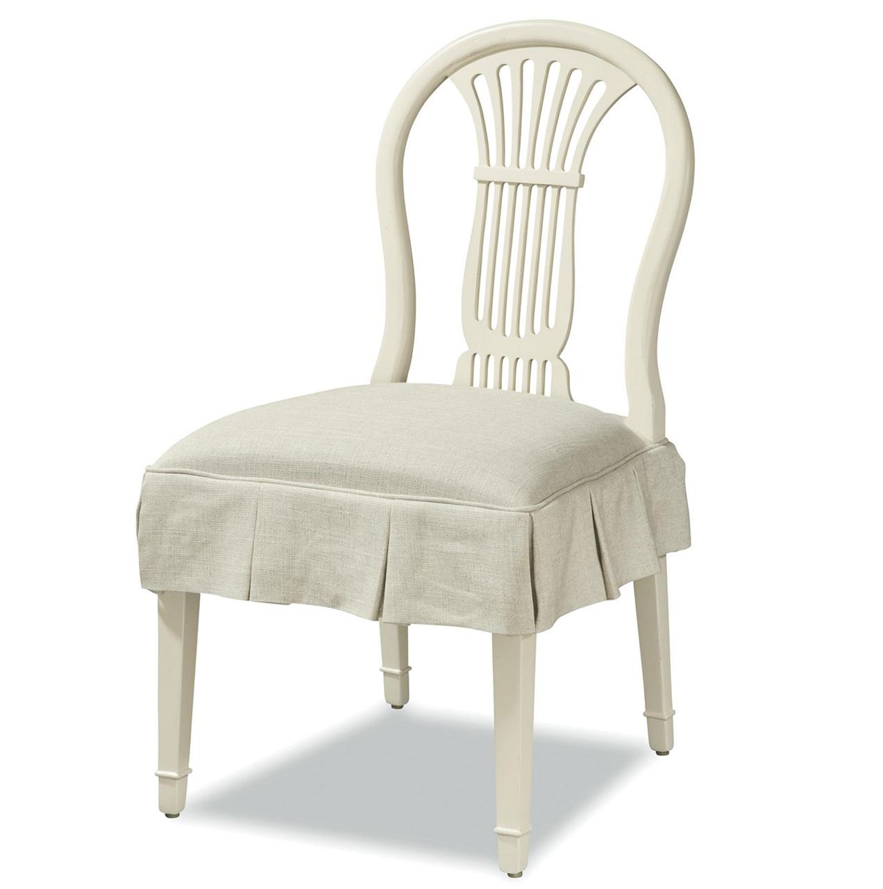 White Kitchen Chairs: Sonoma Vintage White Slipcovered Kitchen Chairs