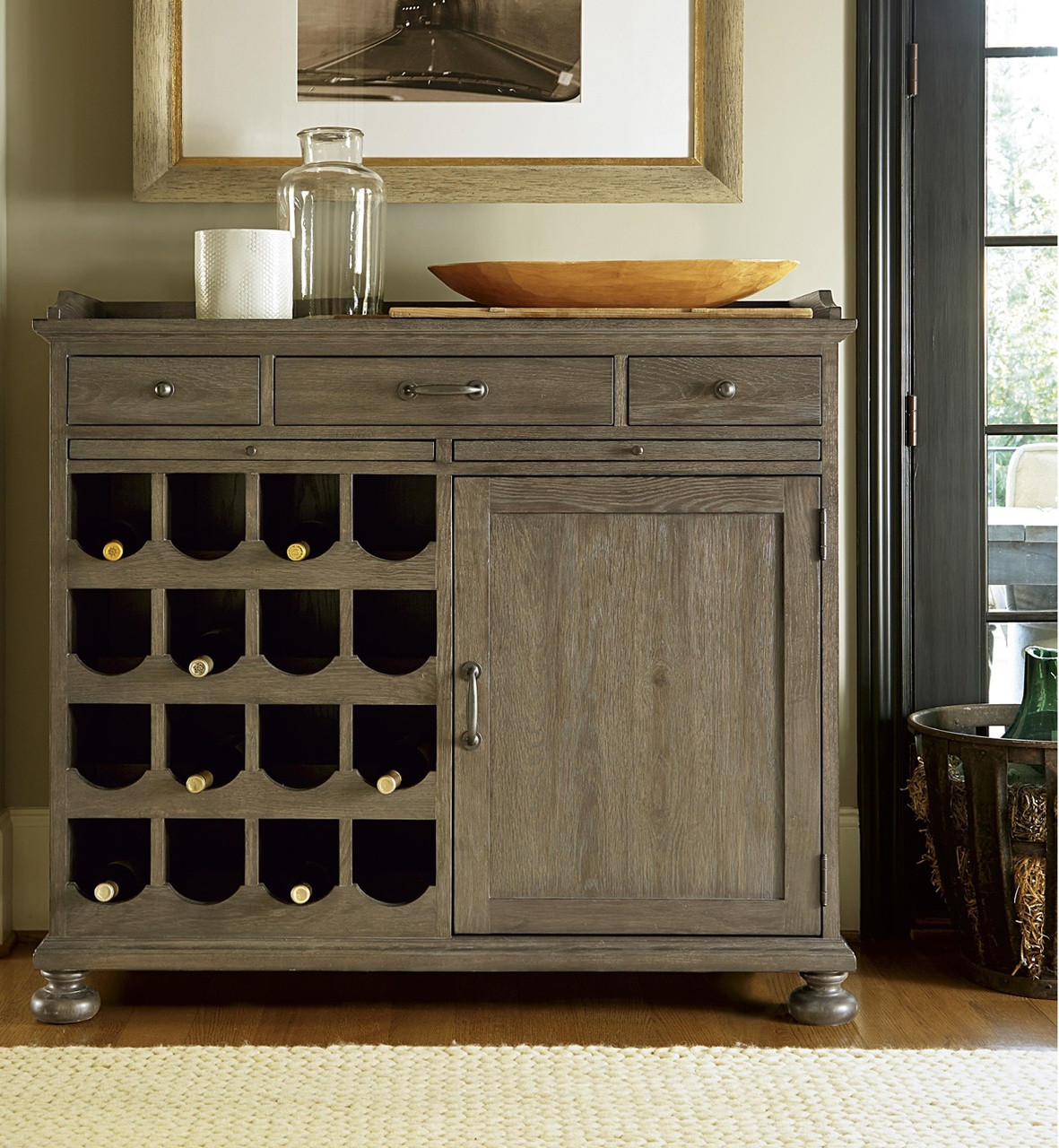 Astonishing French Oak Small Wine Buffet Cabinet Home Interior And Landscaping Transignezvosmurscom