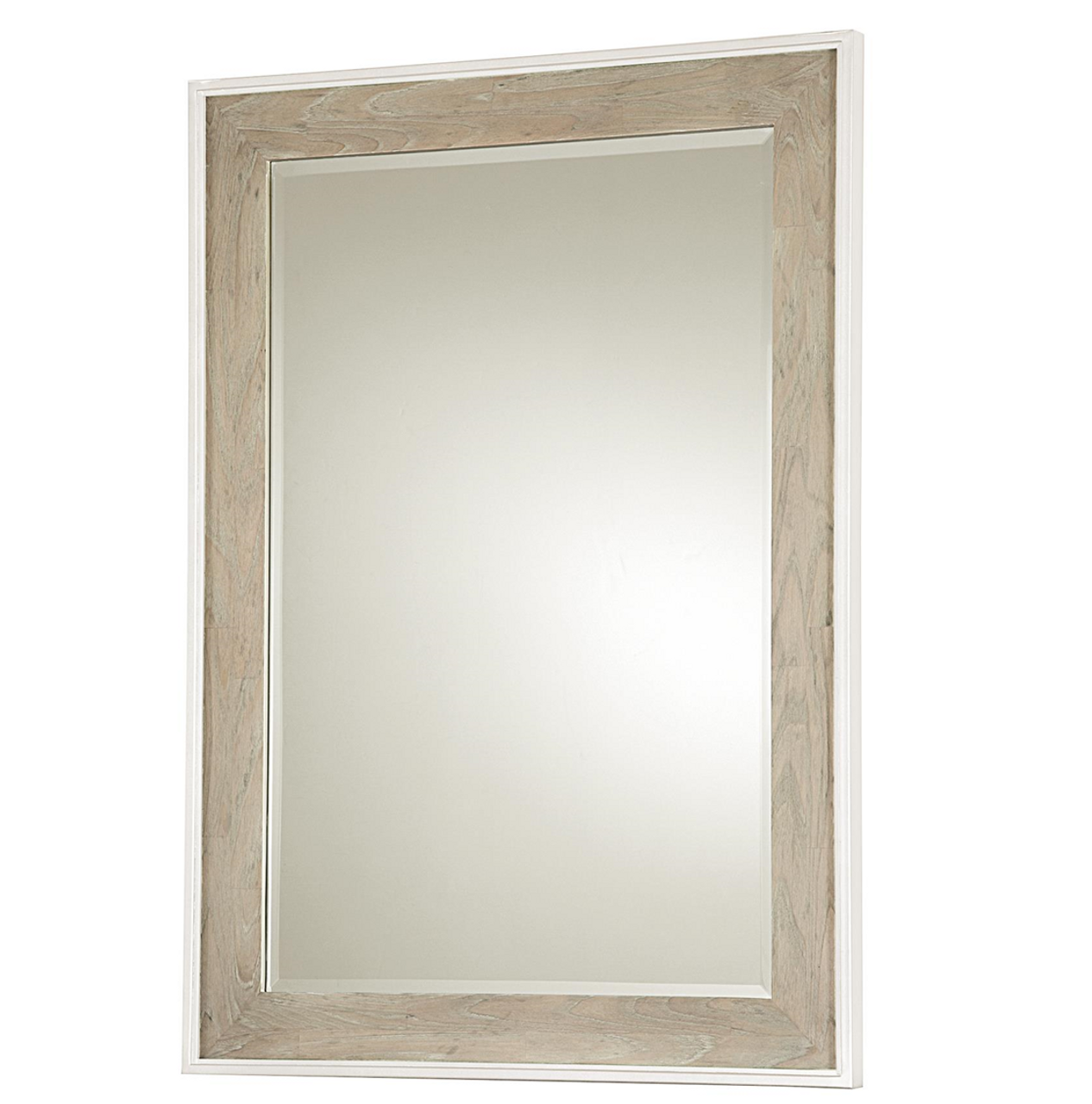 Modern Gray and White Bedroom Dresser Mirror